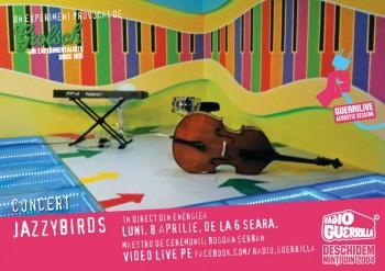 Concert Jazzybirds la GuerriLIVE Acoustic Session în Energiea din Bucureşti