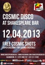 Cosmic disco la Shakespeare Bar din Bucureşti