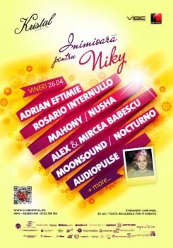 Inimioară pentru Niki în Kristal Club din Bucureşti