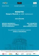 Maeştrii – Despre Muzică şi alte nimicuri la Ateneul Român din Bucureşti