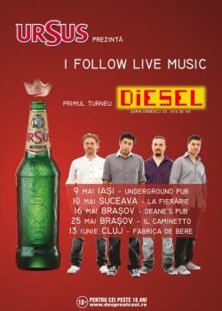 Turneu Diesel în Iaşi, Suceava, Braşov şi Cluj