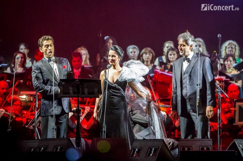 Cezar Ouatu alături de Angele Gheorghiu şi Andrea Bocelli - Foto: Daniel Robert Dinu / iConcert.ro