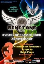 Concert aniversar Benetone Band în Route 66 Club din Bucureşti