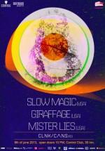 Slow Magic, Giraffage şi Mister Lies în Control Club din Bucureşti