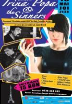 Concert Irina Popa & The Sinners în Tête-à-Tête din Bucureşti