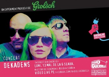 Concert Dekadens la GuerriLIVE Acoustic Session în Energiea din Bucureşti