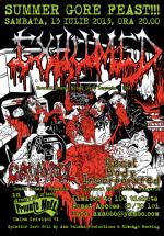Concert Exhumed în Private Hell Club din Bucureşti