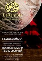 Concert Pilar Diaz Romero – Fiesta Espanola în Restauranul La Rambla din Bucureşti