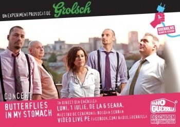 Concert Butterflies in My Stomach la GuerriLIVE Acoustic Session în Energiea din Bucureşti