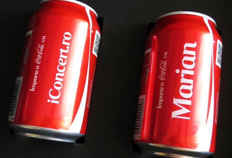 Doze de Coca-Cola personalizate pentru iConcert.ro