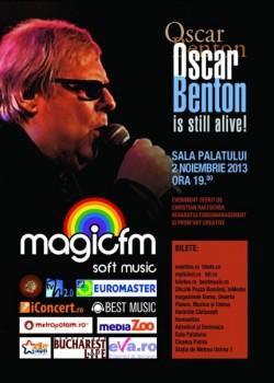 Concert Oscar Benton la Sala Palatului din Bucureşti