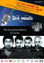 Concert Tibi Scobiola Band în Goha Studio din Braşov