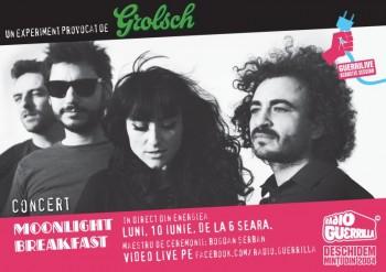 Concert Moonlight Breakfast la GuerriLIVE Acoustic Session în Energiea din Bucureşti
