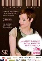 Concert Simona Radu & Co. în J'ai Bistrot din Bucureşti