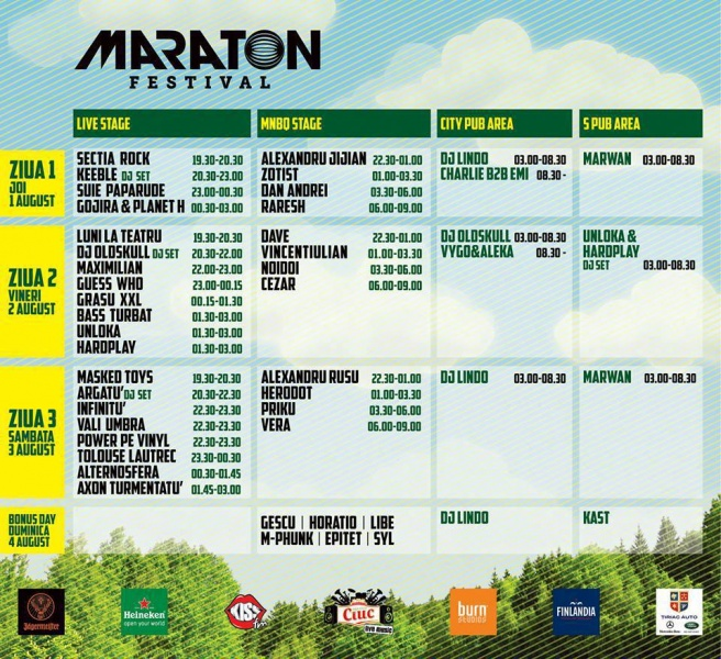 Program Maraton Festival 2013