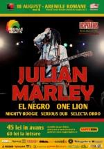 Concert Julian Marley la Arenele Romane din Bucureşti