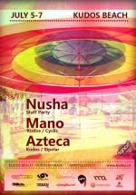 Nusha, Mano şi Azteca la Kudos Beach din Mamaia