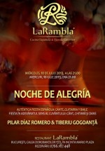 Concert Pilar Diaz Romero – Noche de Alegria în Restauranul La Rambla din Bucureşti