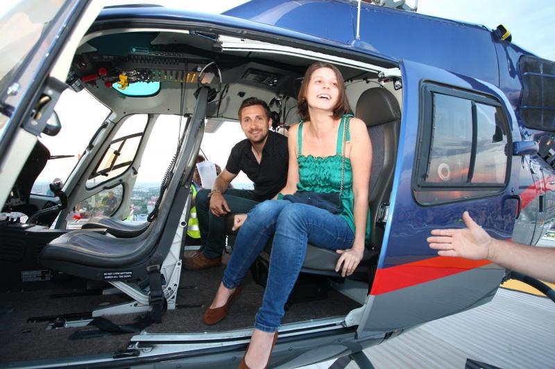Mihaela a călătorit cu elicopterul deasupra Capitalei