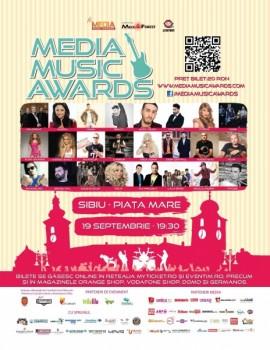 Media Music Awards 2013 în Piaţa Mare din Sibiu