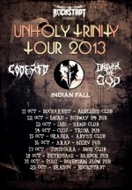 Turneu Code Red, Indian Fall şi Deliver to God – Unholy Trinity Tour 2013