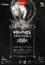 Concert Kratos, DinUmbră şi SpineCrusher în Ageless Club din Bucureşti