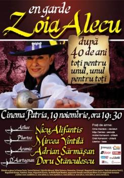 """Concert aniversar Zoia Alecu – """"După 40 de ani"""" la Cinema Patria din Bucureşti"""