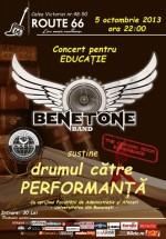 Concert pentru educaţie – Benetone Band în Route 66 Club din Bucureşti