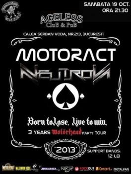 Concert MotorACT şi Neutron în Ageless Club din Bucureşti
