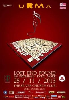 """Concert URMA – lansare """"Lost End Found"""" la The Silver Church din Bucureşti (CONCURS)"""