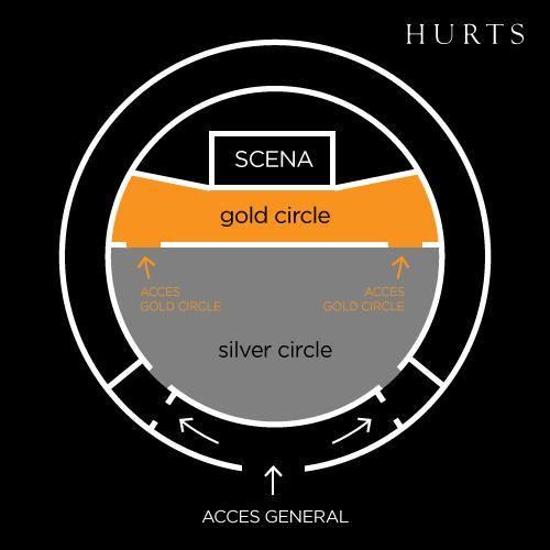 Harta locurilor la concertul Hurts