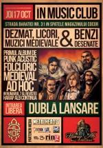 """Concert Ad Hoc – lansare """"Dezmăţ, licori şi muzici medievale"""" în Music Club din Bucureşti"""