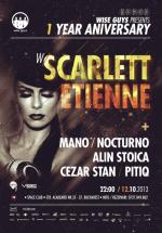 Scarlett Etienne la 1 Year Anniversary Wise Guys în Space Club din Bucureşti