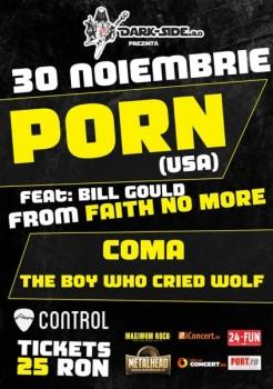 Concert Porn în Control Club din Bucureşti