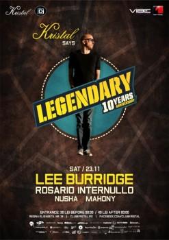 10 Years Anniversary cu Lee Burridge în Kristal Club din Bucureşti