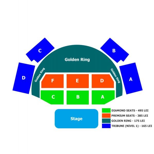 Harta locurilor la concertul Peter Gabriel la Bucureşti