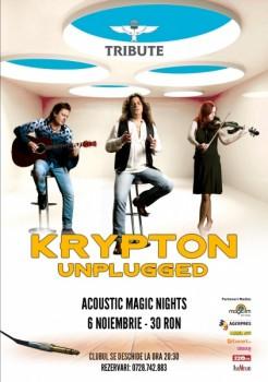 Acoustic Magic Nights cu Krypton Unplugged în Club Tribute din Bucureşti