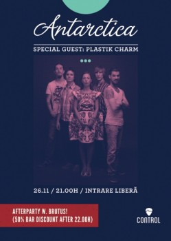 Concert Antarctica LIVE în Control Club din Bucureşti