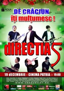 """Concert Direcţia 5 – """"De Crăciun, îţi mulţumesc!"""" la Cinema Patria din Bucureşti"""