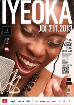 Concerte Iyeoka la Teatrul Naţional şi Diesel Club din Cluj-Napoca