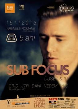 Sub Focus – 5 ani de arena dnb la Arenele Romane din Bucureşti (CONCURS)