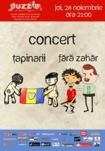 Concert Ţapinarii şi Fără Zahăr în Club Puzzle din Bucureşti