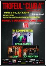 Concerte Space Clinic, C.N.P. şi 9.7 Richter în Club A din Bucureşti