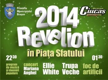 Revelion 2014 în Piaţa Sfatului din Braşov