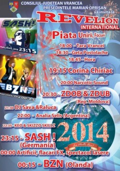 Revelion 2014 în Piaţa Unirii din Focşani
