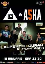 Concert Laurenţiu Guran şi ASHA în Hard Rock Cafe din Bucureşti