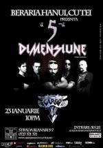 """Concert Cargo – """"A 5-a dimensiune"""" la Berăria Hanul cu Tei din Bucureşti"""