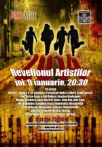Revelionul Artiştilor la Berăria Hanul cu Tei din Bucureşti