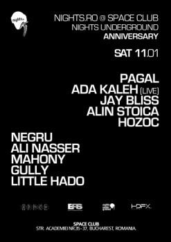 Nights Underground Anniversary în Space Club din Bucureşti