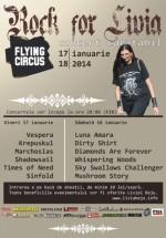 Concert caritabil Rock for Livia în Flying Circus Pub din Cluj-Napoca